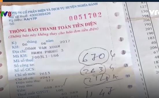 Quảng Ngãi: Dân bức xúc vì hóa đơn tiền điện tăng cao bất thường