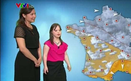 Cô gái mắc hội chứng Down dẫn chương trình thời tiết