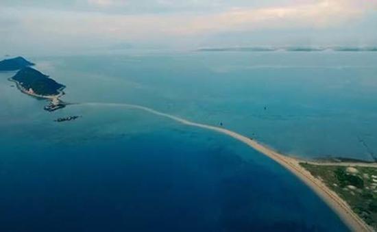 """Con đường """"độc nhất vô nhị"""" giữa biển đảo Điệp Sơn"""