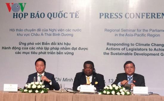 Bế mạc hội nghị IPU về ứng phó với biến đổi khí hậu
