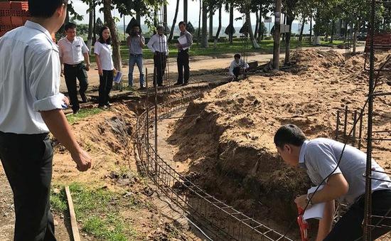 Đình chỉ công trình xây dựng không phép ở trung tâm TP Quảng  Ngãi