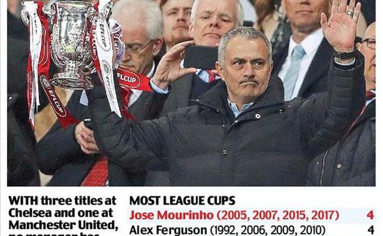 Giúp Man Utd vô địch, HLV Mourinho đi vào lịch sử League Cup