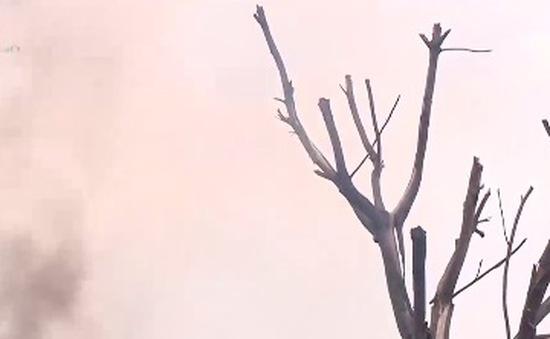 Ô nhiễm không khí nghiêm trọng do cháy kho phế liệu ở Bắc Ninh