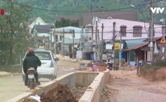 Tuyến đường Langbiang, Đà Lạt chậm tiến độ thi công