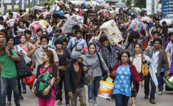 Thái Lan ngừng gia hạn đăng ký cho lao động nước ngoài bất hợp pháp