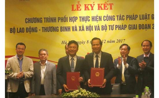Bộ Lao động, Thương binh và Xã hội cùng Bộ  Tư pháp phối hợp công tác