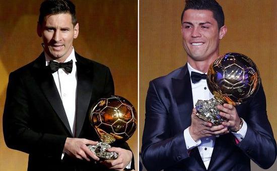 Rạng sáng mai (8/12) công bố danh hiệu Quả bóng vàng 2017: Cuộc đua chênh lệch giữa Ronaldo và Messi