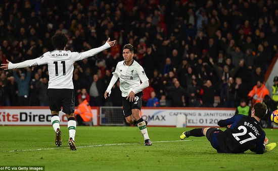 Đại thắng Bournemouth, Liverrpool lập kỷ lục công phá trên sân khách