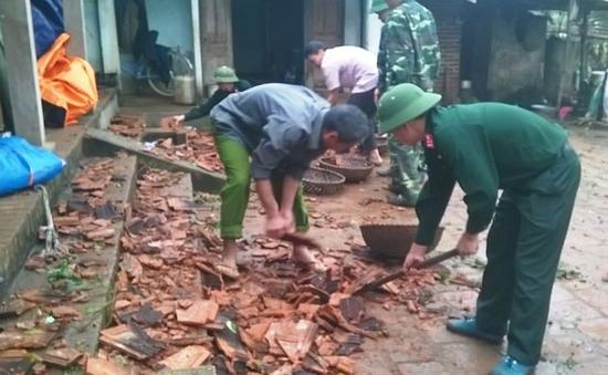 Thanh Hóa khắc phục hậu quả lốc xoáy, mưa đá