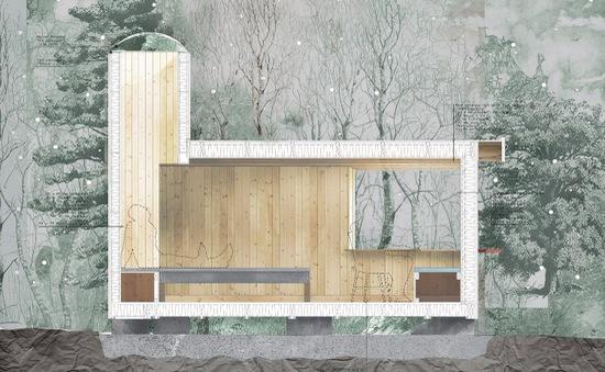"""Ngôi nhà độc đáo ở Thụy Điển với khoảng """"giếng trời"""" lạ mắt"""