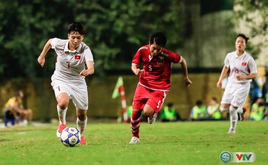 Ảnh: ĐT nữ Việt Nam vượt qua Myanmar, giành vé dự VCK Giải vô địch bóng đá nữ châu Á 2018
