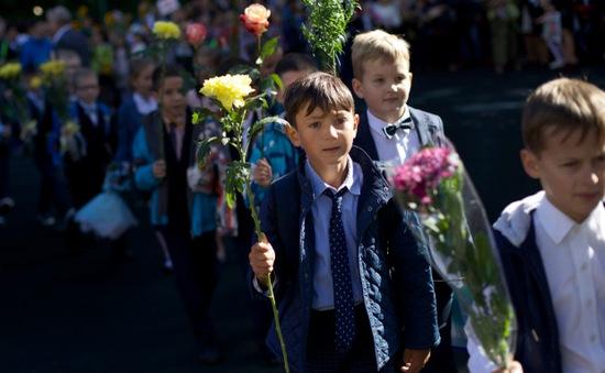 Học sinh Nga đón ngày khai trường