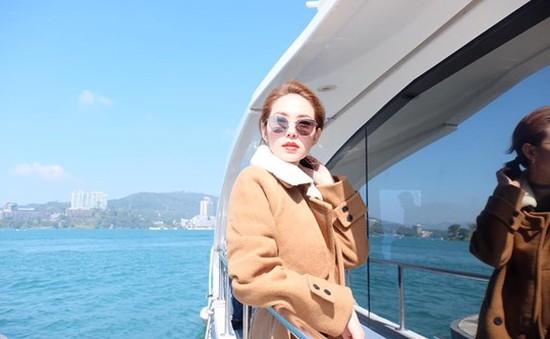 Minh Hằng tươi tắn khi đi du lịch tại Đài Loan