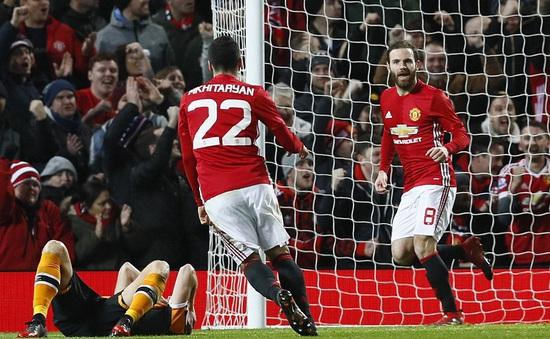 Bán kết League Cup: Man Utd 2-0 Hull City: Quỷ đỏ đặt 1 chân vào chung kết