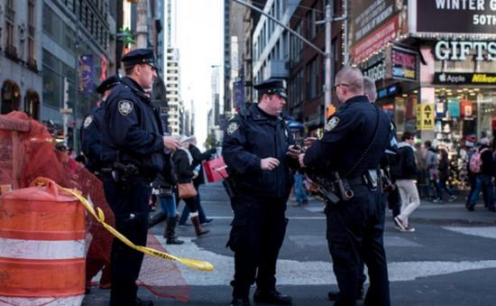Mỹ tăng cường an ninh tại Quảng trường Thời đại dịp năm mới