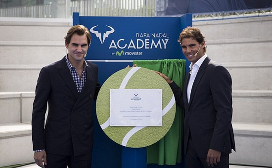 Federer muốn con theo học tại học viện của Nadal