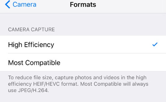 Định dạng ảnh và video mới trên iOS 11 giúp giảm dung lượng lưu trữ tới 50%