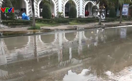 Bình Thuận chỉ đạo giải quyết nạn ngập úng ở khu phố Tây