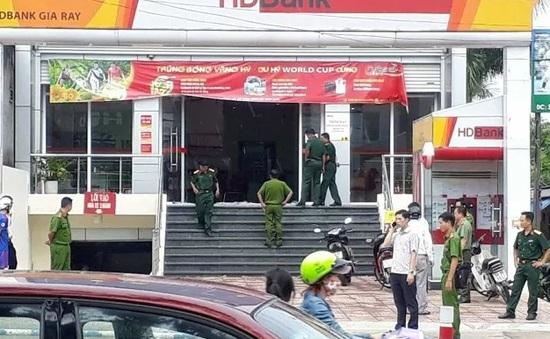 Truy bắt đối tượng cướp ngân hàng tại Đồng Nai