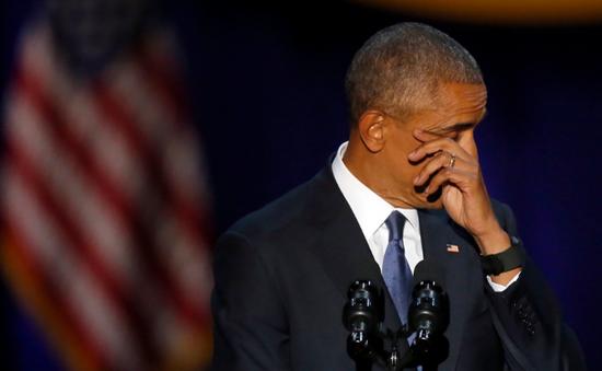 Những hình ảnh đáng nhớ của ông Obama khi từ biệt vai trò Tổng thống Mỹ