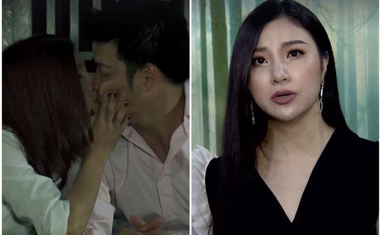 """Phim Hoa cỏ may: Hạnh Sino """"cướp"""" nụ hôn đầu đời trên màn ảnh của diễn viên Hải Anh"""