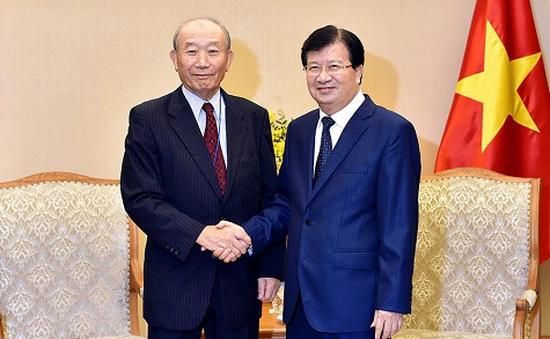 Phó Thủ tướng Trịnh Đình Dũng tiếp Phó Chủ tịch Hội đồng thúc đẩy ngoại giao nhân dân Nhật Bản