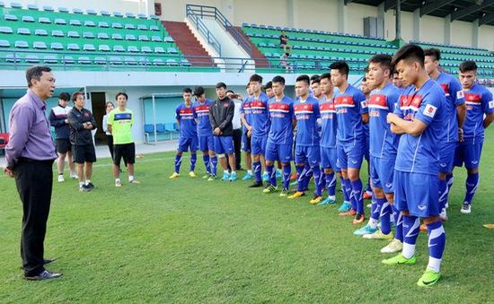 Lãnh đạo VFF thăm và động viên ĐT U23 Việt Nam