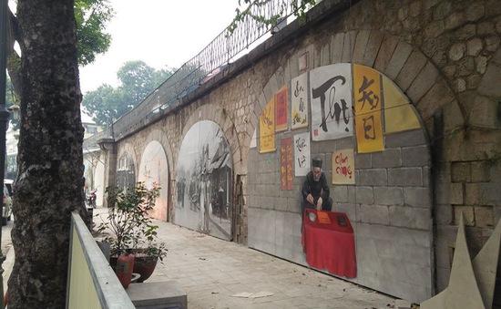 Dự án Bích họa trên phố Phùng Hưng sẽ hoàn thiện trước Tết Nguyên đán 2018