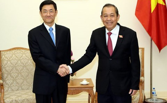 Phó Thủ tướng Trương Hòa Bình tiếp Thứ trưởng Bộ An ninh Trung Quốc