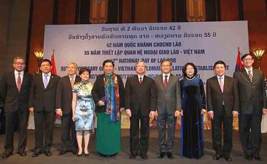 Lãnh đạo cấp cao Việt Nam dự kỷ niệm Quốc khánh Lào
