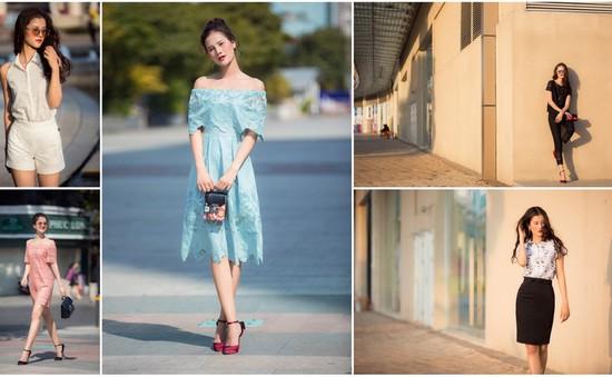 Hương Ly Next Top Model yêu kiều trên phố ngày hè ngập nắng