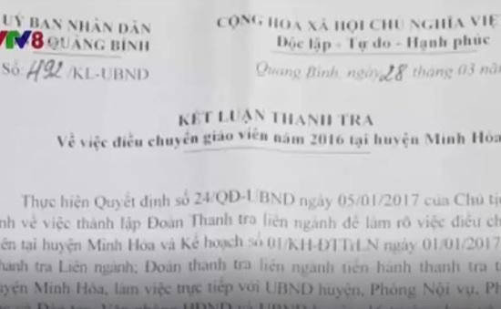 Quảng Bình: Kiểm điểm Chủ tịch huyện vì điều chuyển sai 145 giáo viên