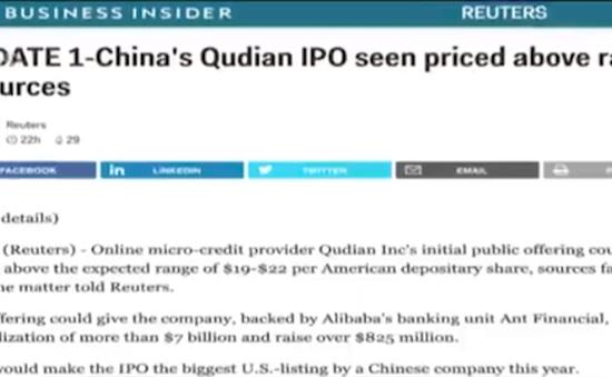 Qudian – công ty Trung Quốc chuẩn bị lên sàn chứng khoán tại Mỹ