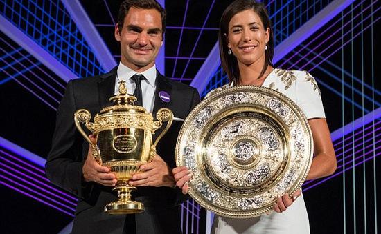 Federer và Muguruza với những hoạt động sau chức vô địch Wimbledon