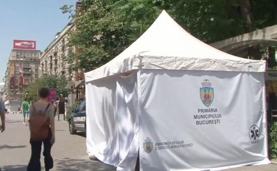 Nắng nóng khủng khiếp, Romania đặt lều cứu thương tại nơi đông người