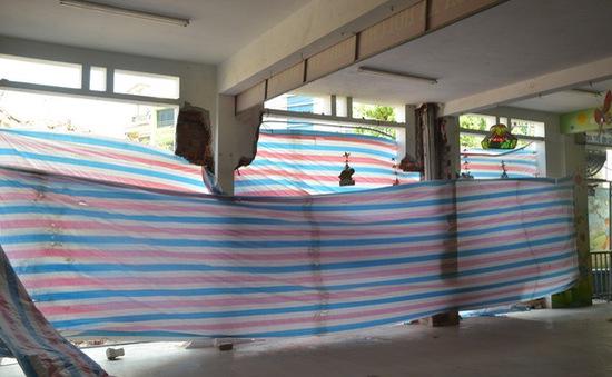 Sập tường trường mầm non, gần 300 học sinh phải nghỉ học