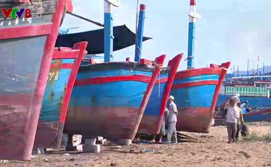 Hỗ trợ ngư dân sửa chữa tàu cá sau bão