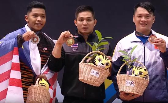 Lực sĩ Hoàng Tấn Tài giành huy chương cuối cùng cho Đoàn TTVN tại SEA Games 29