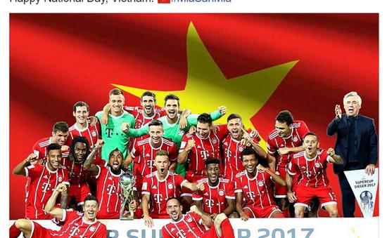 Hàng loạt đội bóng lớn chúc mừng CĐV Việt Nam nhân ngày Quốc khánh 2/9