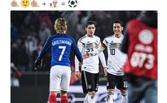 Griezmann khiến fan Man Utd dậy sóng với bức ảnh chụp cùng Ozil