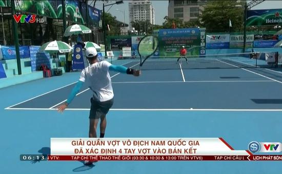 Giải quần vợt vô địch nam quốc gia: Xác định 4 cái tên vào bán kết