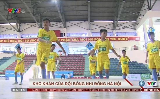 Khó khăn của đội bóng nhi đồng Hà Nội