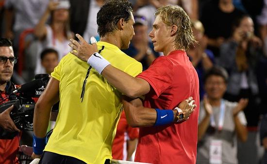 Vòng 3 Rogers Cup: Nadal thua sốc tài năng trẻ 18 tuổi