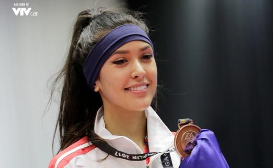 """SEA Games 29: Đấu trường Taekwondo """"nóng"""" vì VĐV nữ quá xinh đẹp"""