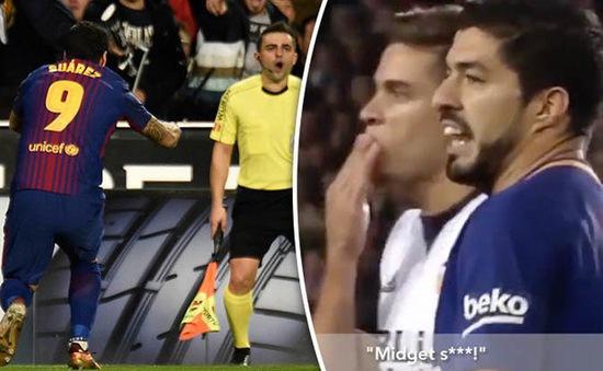 Chửi trọng tài, Luis Suarez sắp mang họa cho Barcelona