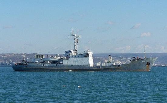 Tàu trinh sát của Nga gặp nạn ở Biển Đen