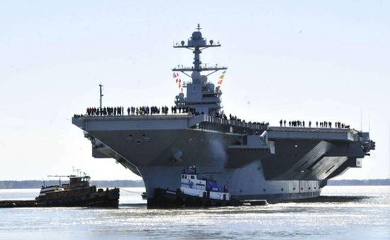 Mỹ thử nghiệm tàu sân bay mới
