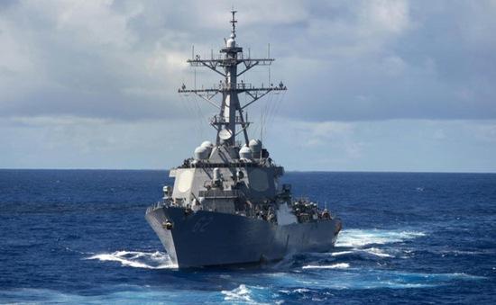 Tàu khu trục Mỹ va chạm với tàu hàng ngoài khơi Nhật Bản