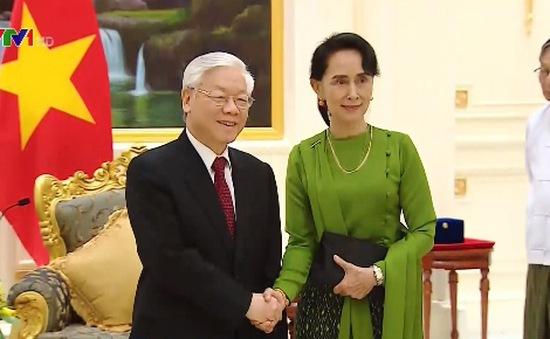 Tổng Bí thư hội kiến Cố vấn Nhà nước Myanmar