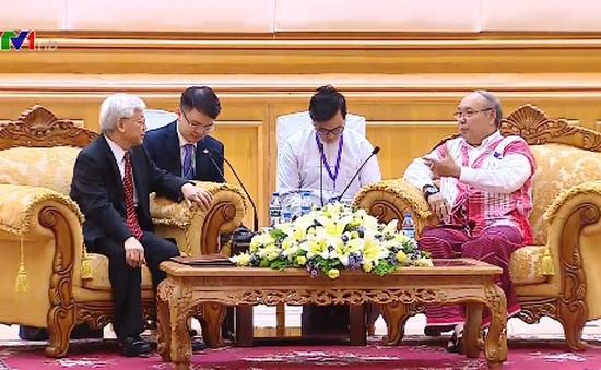 Tổng Bí thư hội kiến Chủ tịch Quốc hội Myanmar